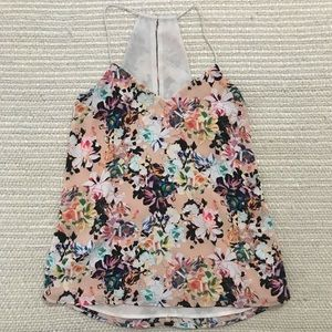 Ann Taylor Floral High Low Tank Top